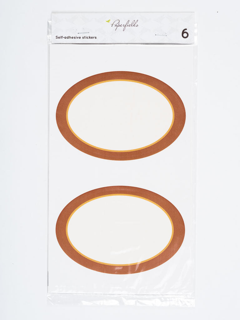 Orange oval stickers