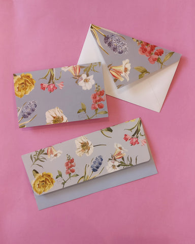 Florist Money Envelope and Stationery Set