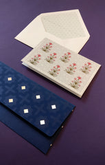 Noura Money Envelope and Mughal Lotus Stationery Set