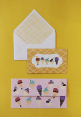 Ice Cream Money Envelope and Stationery Set