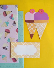Ice Cream Wrapping, Tags and Envelopes Set