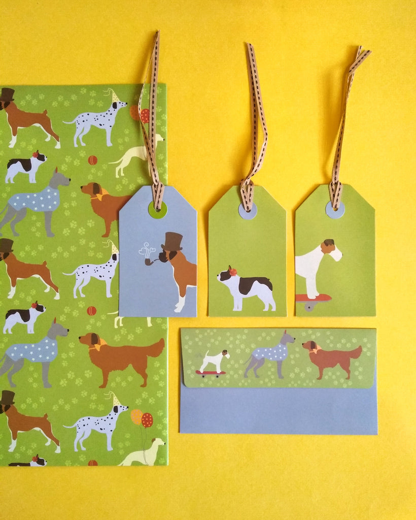 Pawsome Wrapping, Tags and Envelopes Set