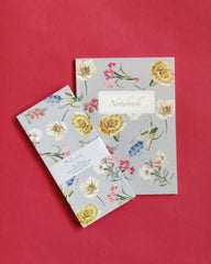 florist notebook and money envelope