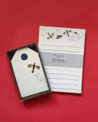 Aviator notepad and Gift tags