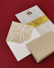 Upcycled stationery set and Agra notepad