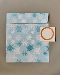 Snowflake Envelope with snowman tag