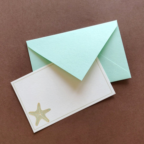 Starfish Stationery set