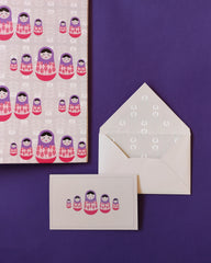 Matryoshka Doll Folder and Stationery Set