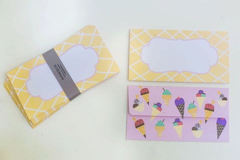 Ice-cream Money Envelopes