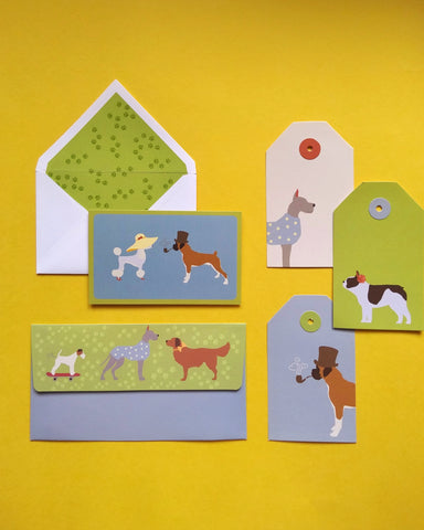 Pawsome Money Envelopes, Tags and Stationery Set