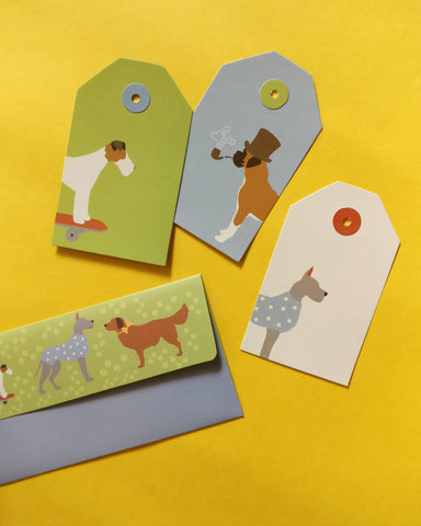 Pawsome Tag and Money Envelope Set