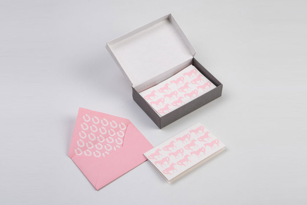 Pink Horse Stationery Set