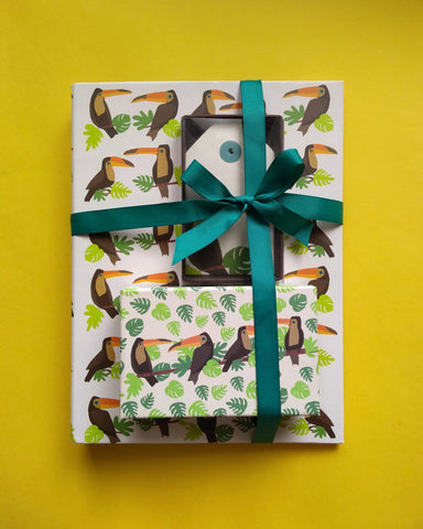 Toucan Folder, Tags and Stationery Set