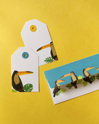 Toucan Tags and Money Envelope Set