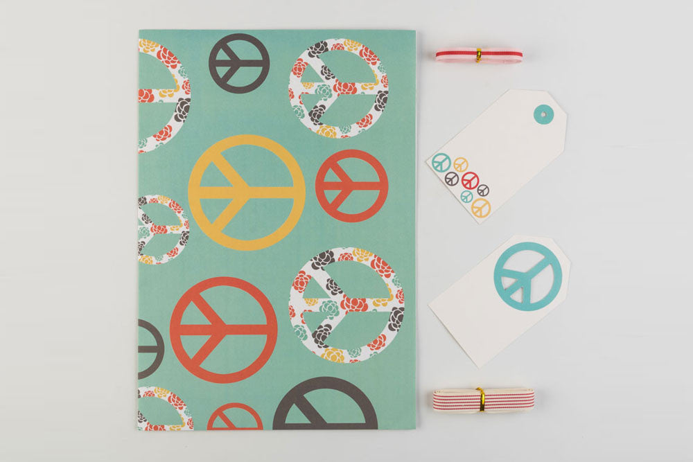 Peace Gift Wraps and Tag set