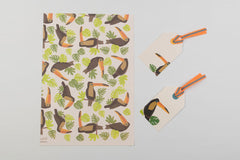Toucan Wrapping paper and tags