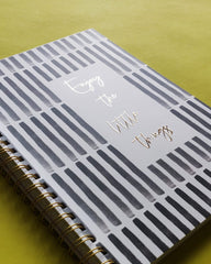 Enjoy the Little Things Vertical Striped Workbook