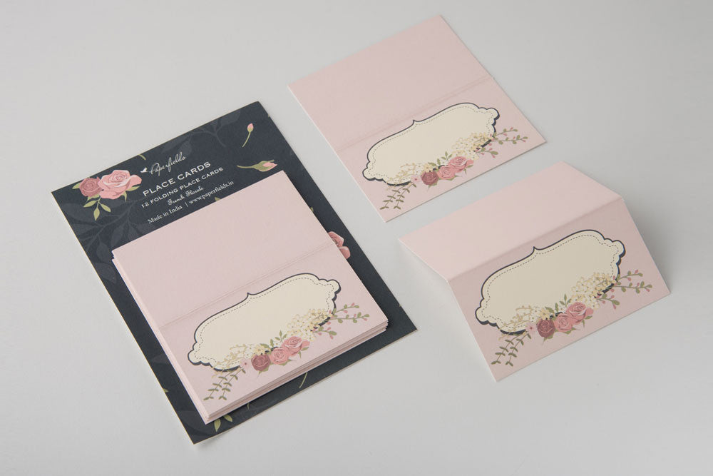 French Floral Place Cards