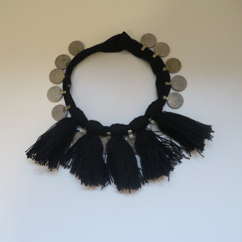 TRIBAL TASSLE COIN NECKLACE