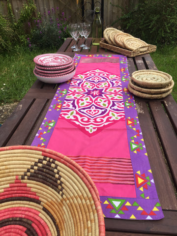 KHAYAMAYA COTTON TABLE RUNNER