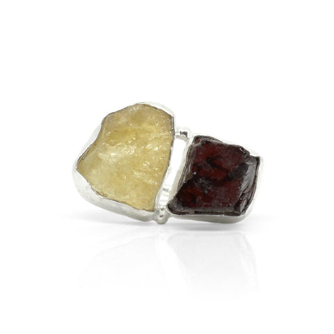 GARNET & CITRINE SPIRIT RING
