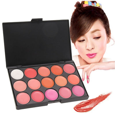 15 Colors Lip Gloss Palette Makeup