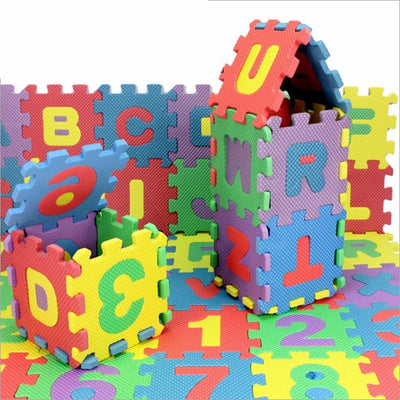 36-Piece Bath Letters and Numbers Toy Set