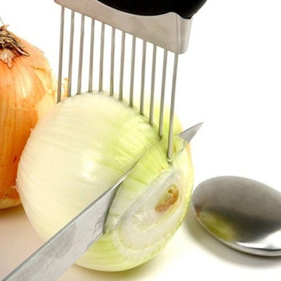 Onion Holder Slicer Vegetable Cutter Stainless Steel Tools