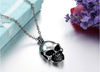 Cool personalized skull pendant stainless steel necklaces best gift for man