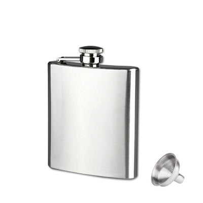 Flask Trustworthy Stainless Steel Hip Flask Liquor Whisky Alcohol Cap Funnel Drinkware Bottle