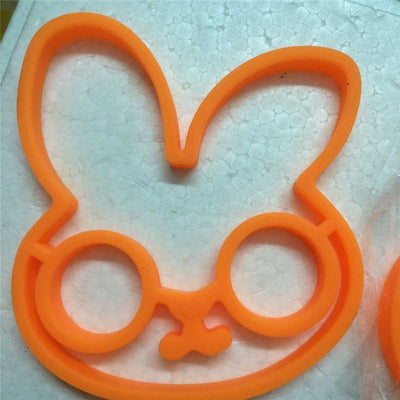 Slicone Egg White Rabbit Egg Shaper Moulds Egg Ring Silicone Mould