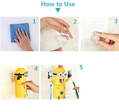 Toothbrush Holder Automatic Toothpaste Dispenser