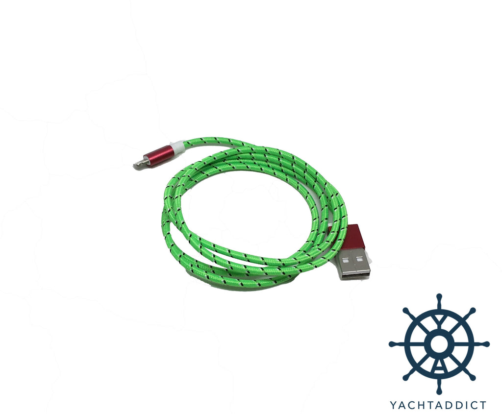 YACHTADDICT lightning to USB cable - green