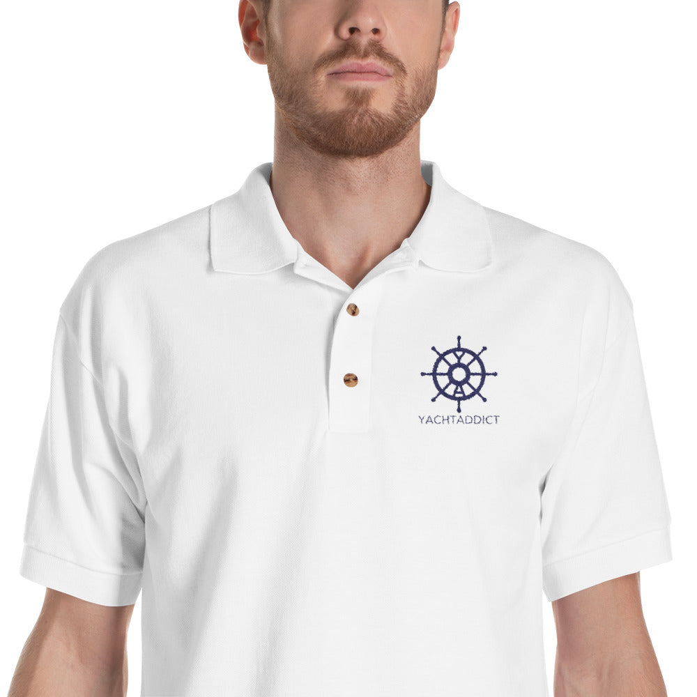 Embroidered Polo Shirt - YACHTADDICT logo