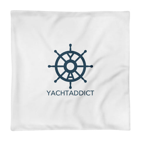 Square Pillow - Case only - YACHTADDICT logo