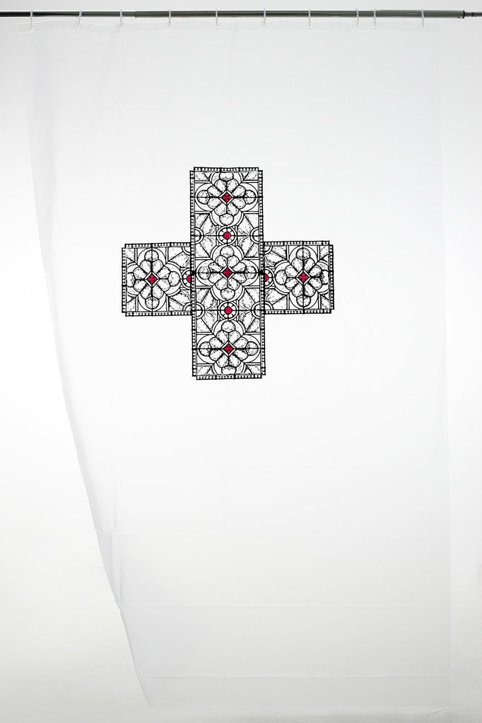 Greek Cross With A Stained Glass Pattern Splash Out Designer