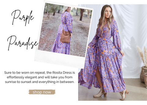 Soft Comfortable Boho Maxi Dress Floral Design