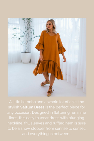 Saltum Dress - Luxe Linen Ethical and Sustainable Australian Womens Fashion Label