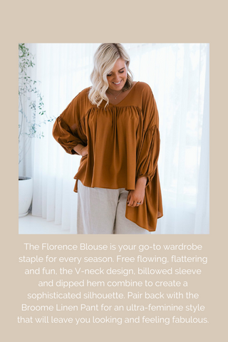 Florence Blouse - Sophisticated and Sleek Australian Womens Ethical Fashion Label