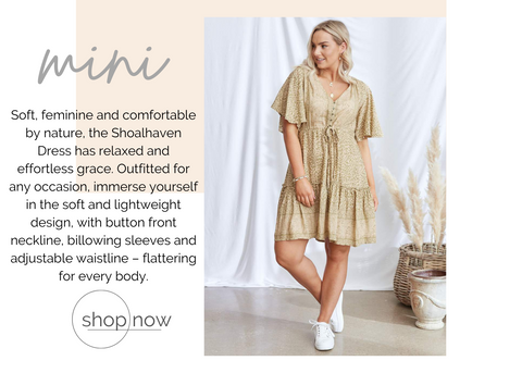 shoalhaven womens mini length boho dress