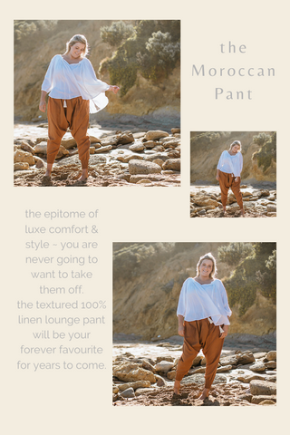 Moroccan Pant - Luxe Linen Lounge Pant - Comfort and Style - Australian Womens Fashion