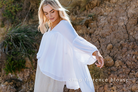 Florence Blouse - Feminine and Flowing - Australian Womens Fashion Brand
