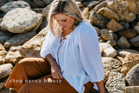 Ouvea Blouse - Womens Australian Fashion Label