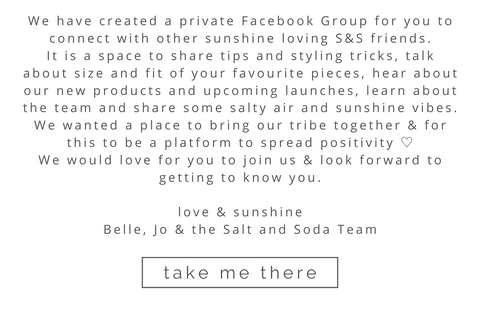 VIP Facebook Group - Salt and Soda - Womens Sustainable Fashion Label