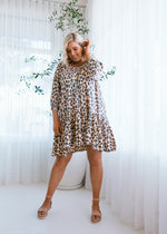 salt and soda australian owned womens fashion label eco sustainable comfortable bather cover loose fitting leopard print cotton dress