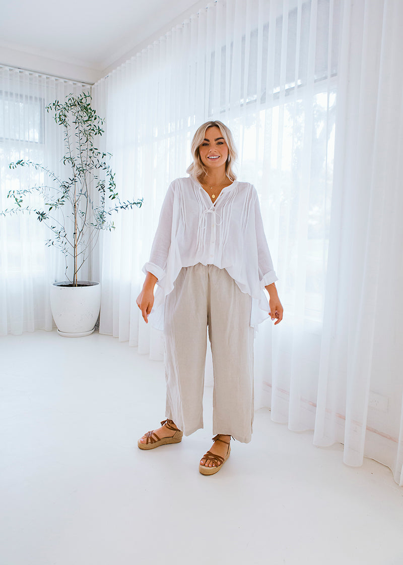 Broome Linen Pant Stone