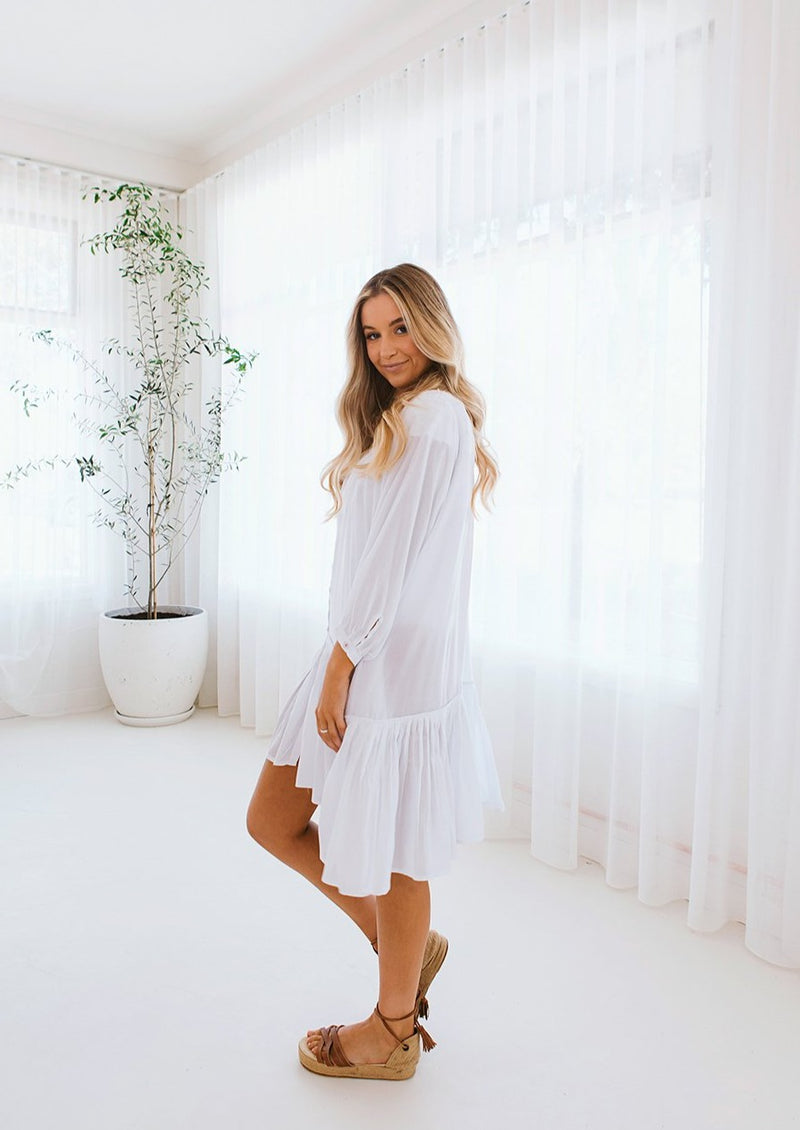 Positano Dress Crisp White