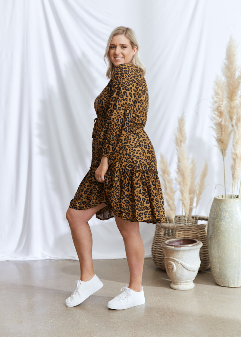 Salt & Soda Design For Everybody For Every Season For Every Day Sienna Dress Coppertone Call Of The Wild Elasticated Sleeve Short Dress Functional Breastfeeding Friendly Summer Style Boho Easy To Wear Easy To Love