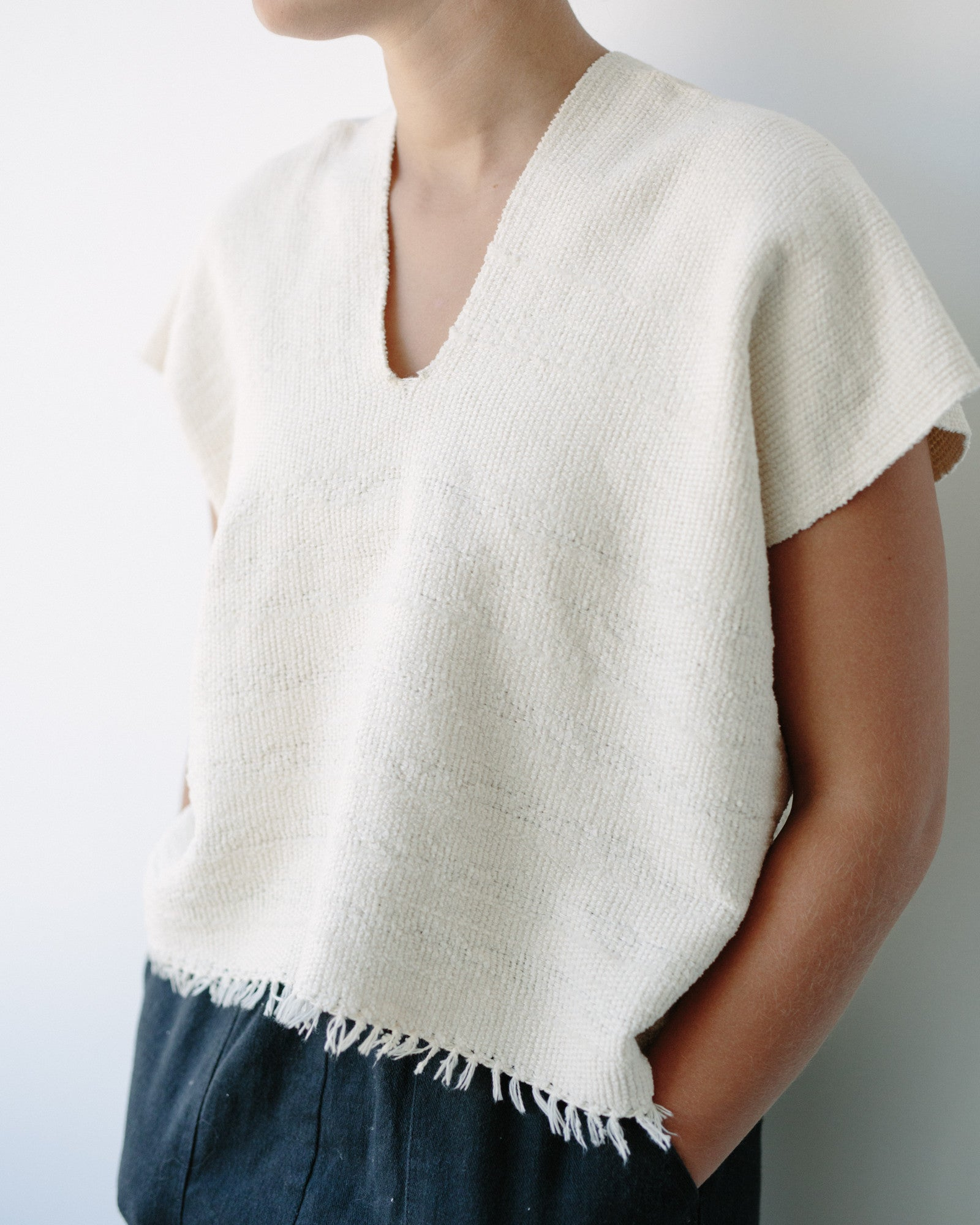 Hand Woven Shirt, Thick Cotton