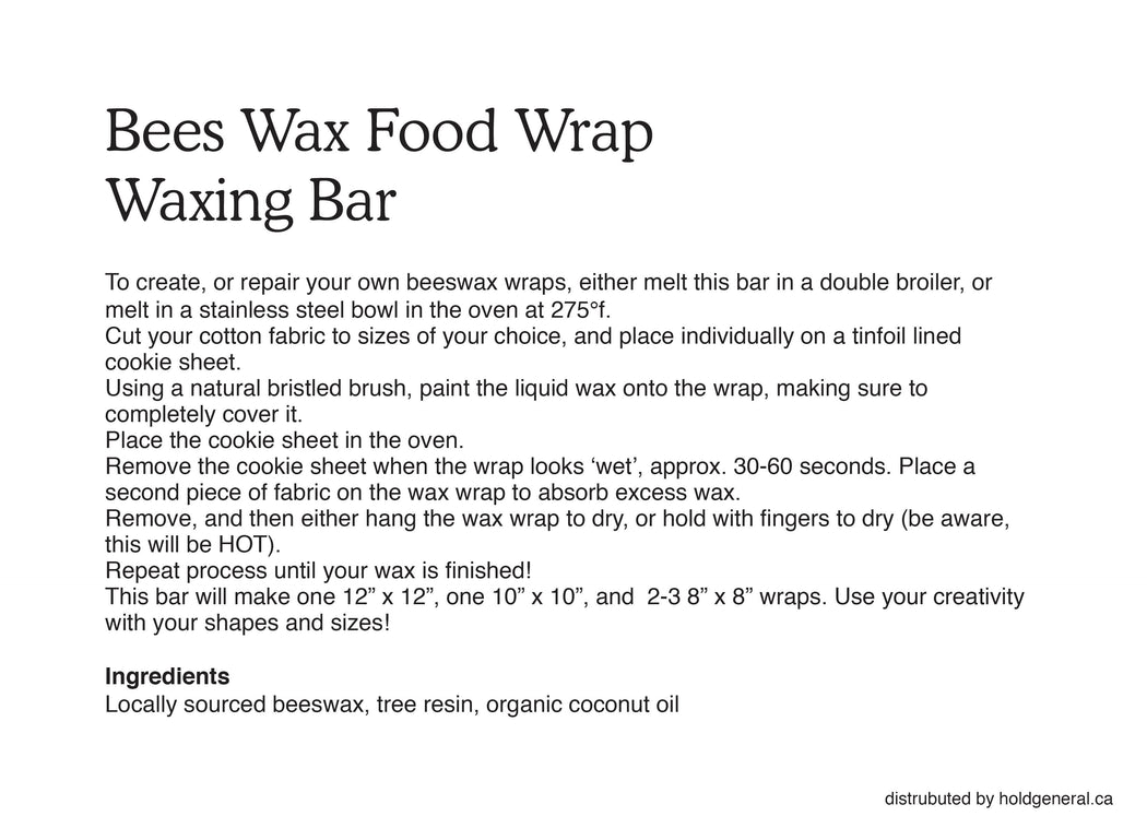 Resin and Bees Wax Block - Make your own Food Wraps